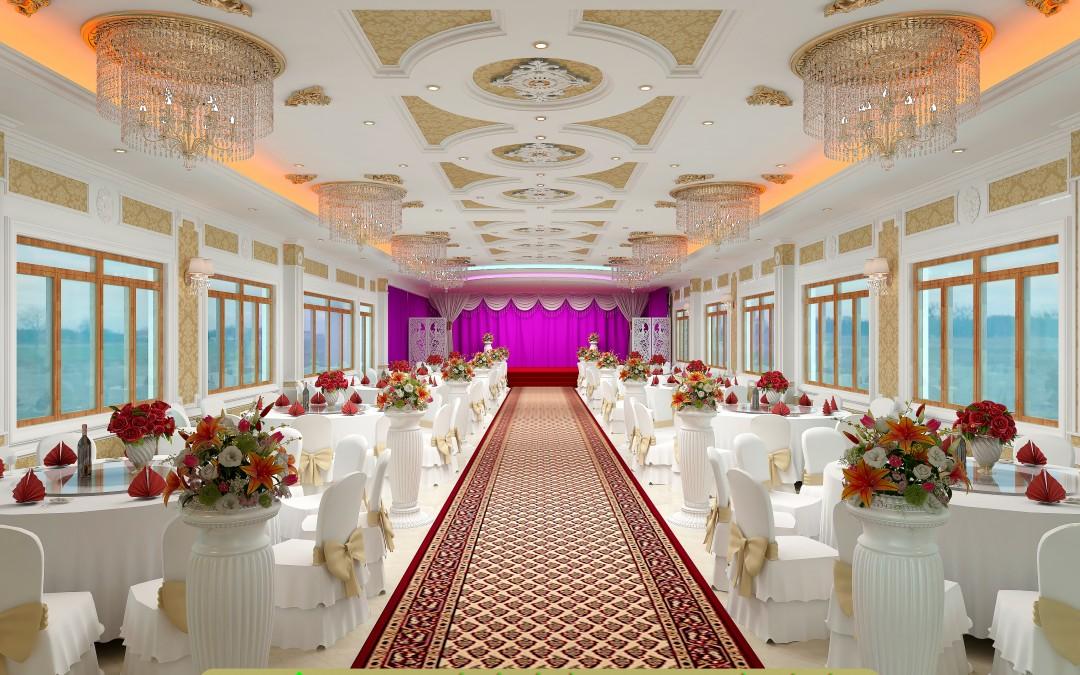 Thảm từ sợi Acrylic rất thích hợp để làm tấm lót sàn hội trường nhà hàng